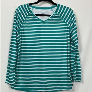 Kanu green /white long sleeved water shirt XL